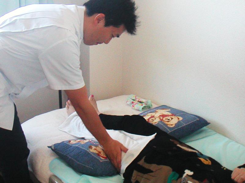 1.下肢のマッサージ